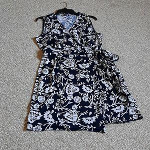 Tommy Hilfiger Floral Wrap Midi Dress